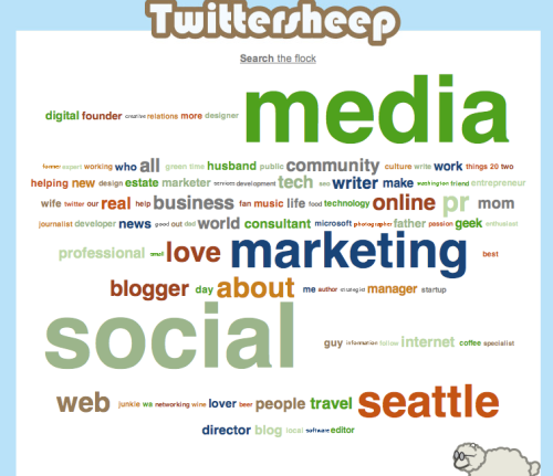twittersheep cloud for @smcseattle twitter gang